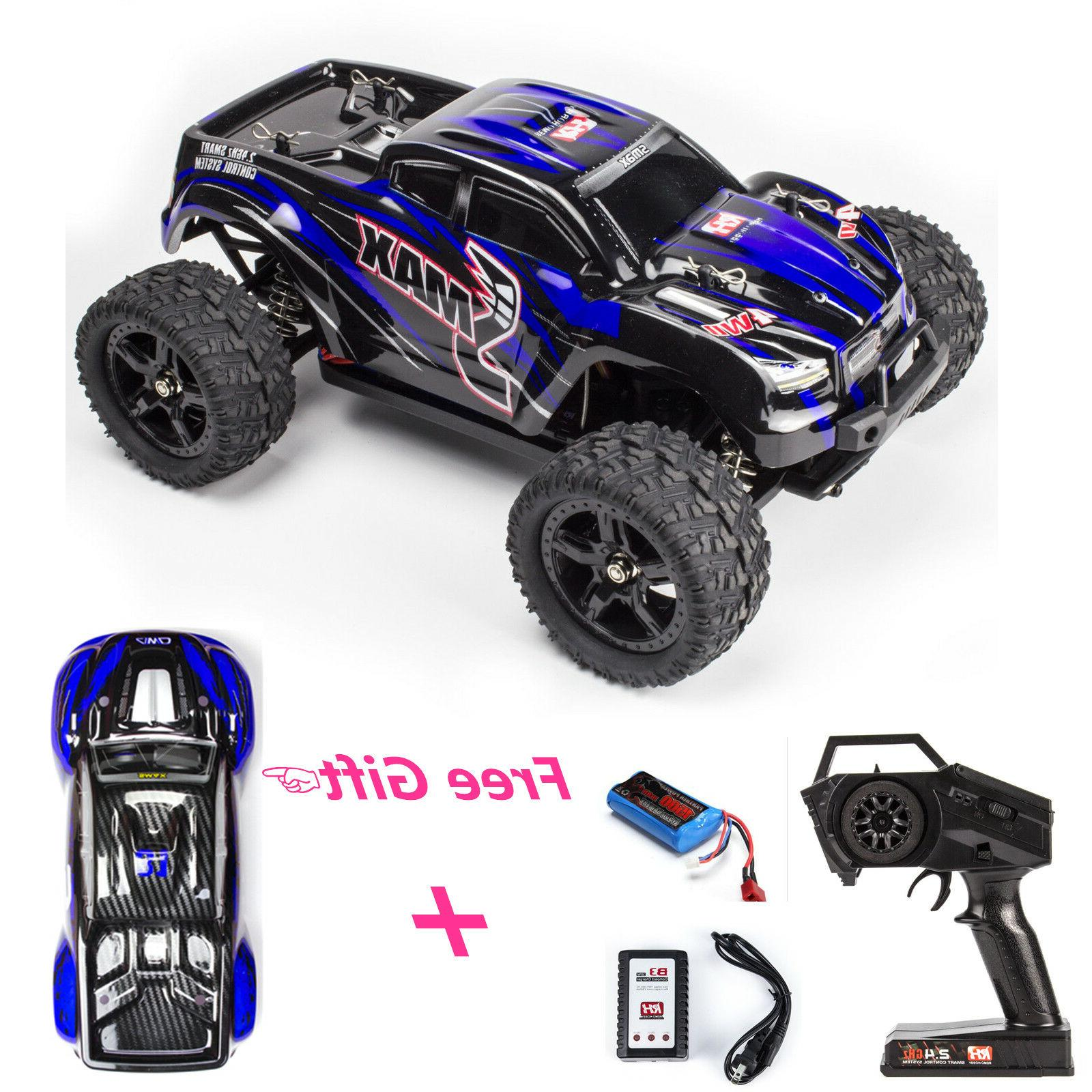 REMO 1/16 RC Monster Truck 2.4Ghz 4WD Off-Road Brushed Remot
