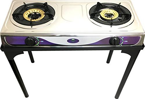 1 Heavy Duty Burner Propane Outdoor Stove Full Body without Metal