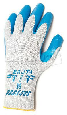 1 Pair Showa Atlas Fit 300 Rubber Coated Work Gloves SMALL I