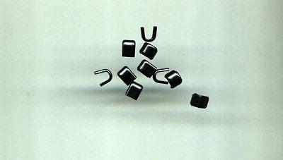 10 black heavy duty top zipper stops