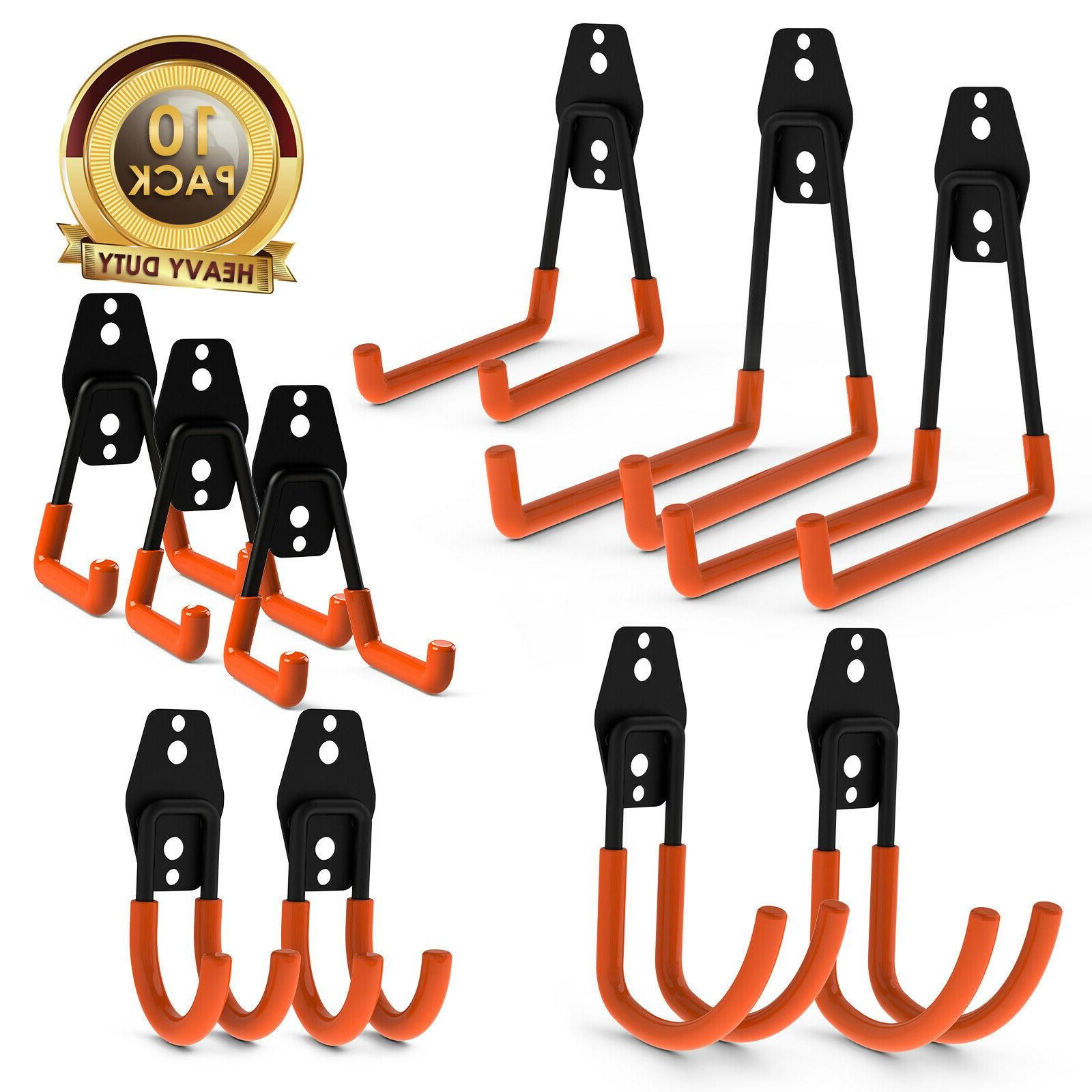 10 pack heavy duty utility hooks garage