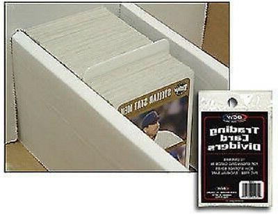 10 trading card dividers white heavy duty