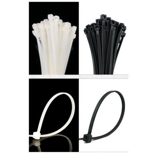"""10"""" 14"""" 24"""" Plastic Cable Zip Ties Heavy Duty Nylon Wrap Wire"""
