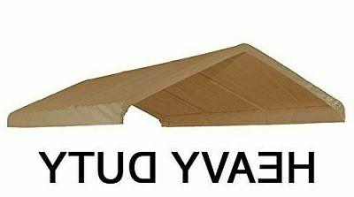 10x20 heavy duty beige canopy top cover