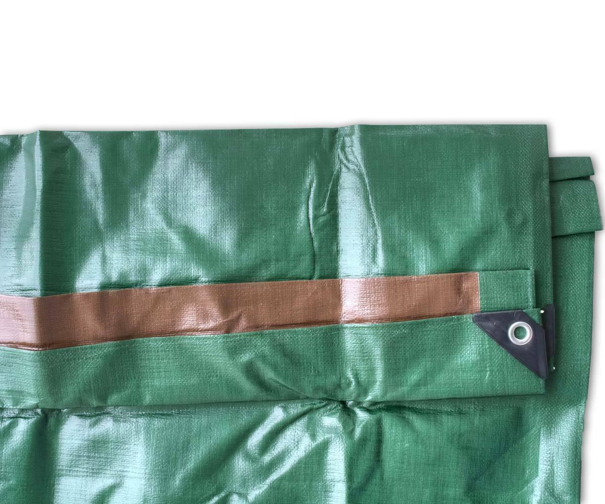 12 Heavy Tarp Green Brown