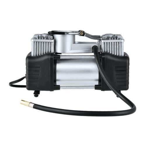 12V Heavy Duty Double Pump Compressor Car Inflator