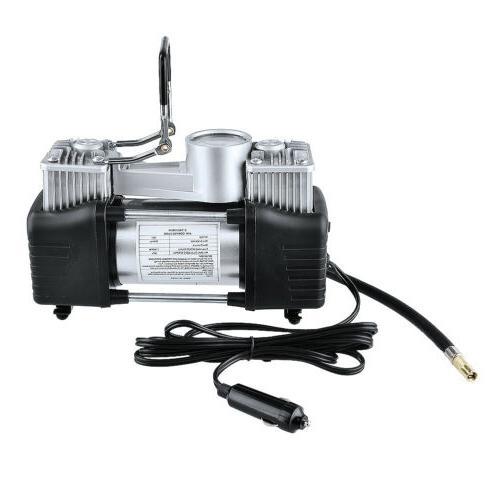 12V 150PSI Duty Double Air Pump Compressor Car Inflator