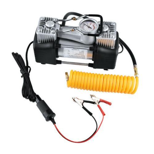 12V Double Cylinder Air Compressor Car Inflator