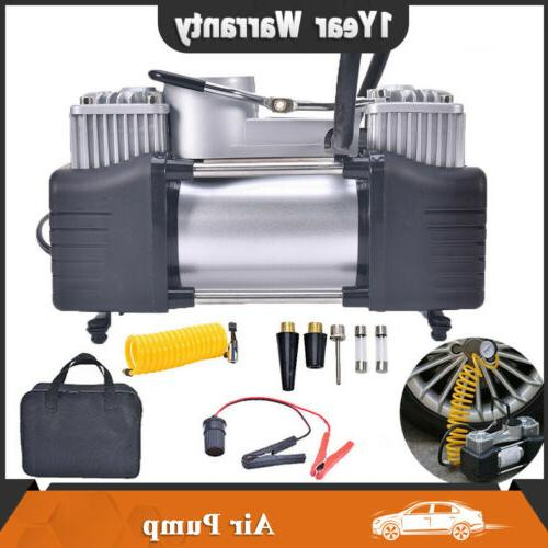 12v 150psi heavy duty double cylinder air