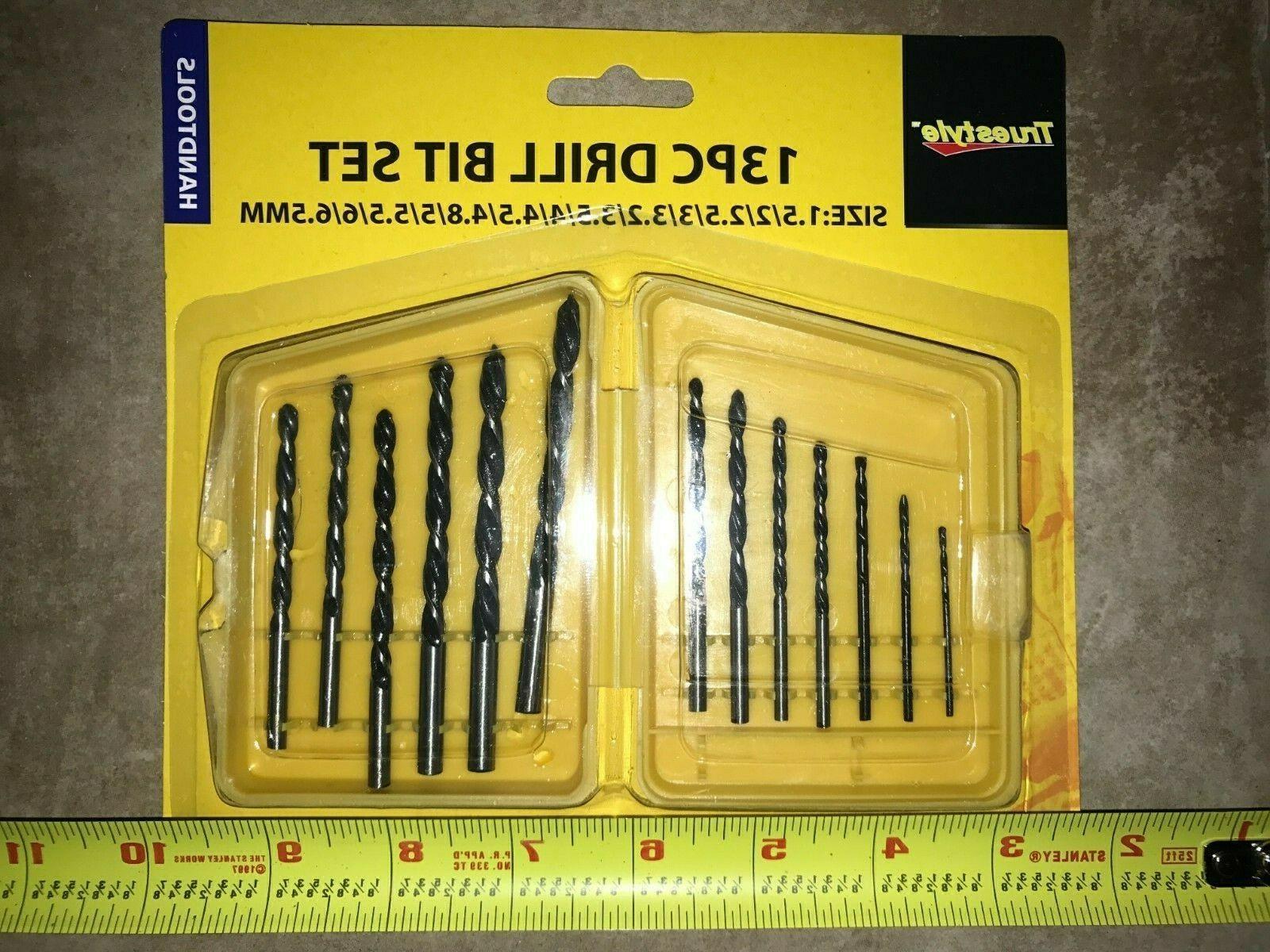 13 piece drill bit set size 1