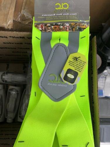 14110 heavy duty hi viz suspenders