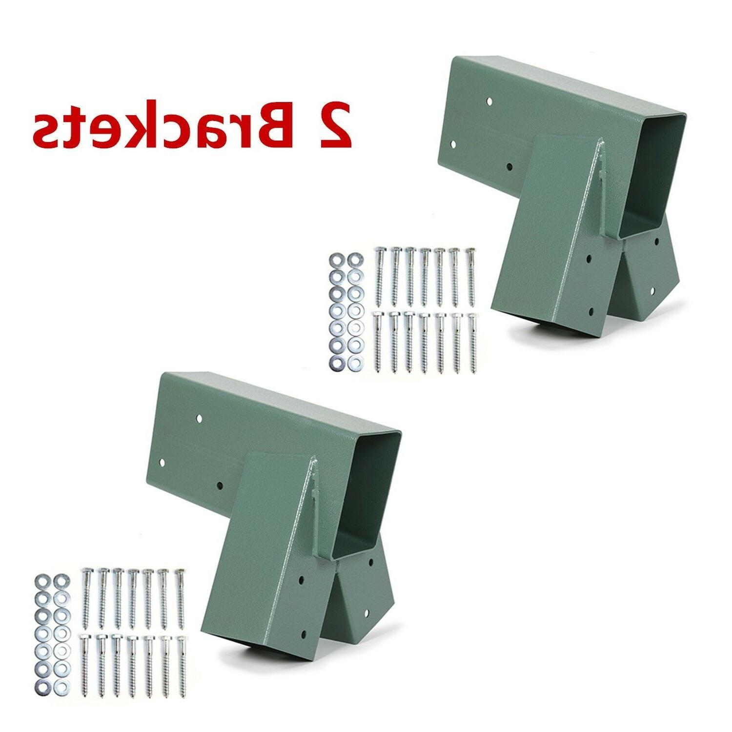 2 brackets heavy duty steel 1 2