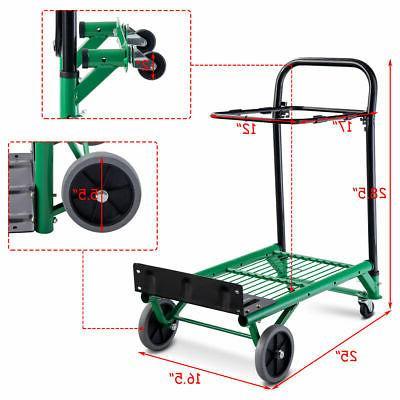 2-in-1 Platform Hand Truck Dolly Cart Folding