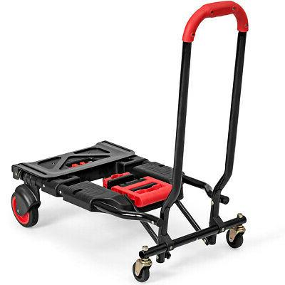 2 in 1 Folding Hand Truck Multi-Position Heavy Large Capacity