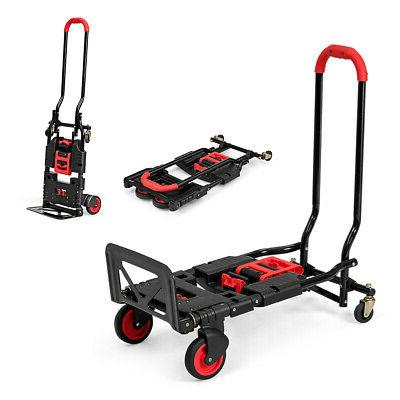 2 in 1 folding hand truck dolly