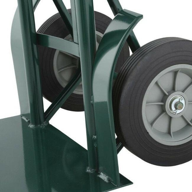 """2 Wheel Hand Truck Cart Duty Steel 10"""" Flat 1000lb"""
