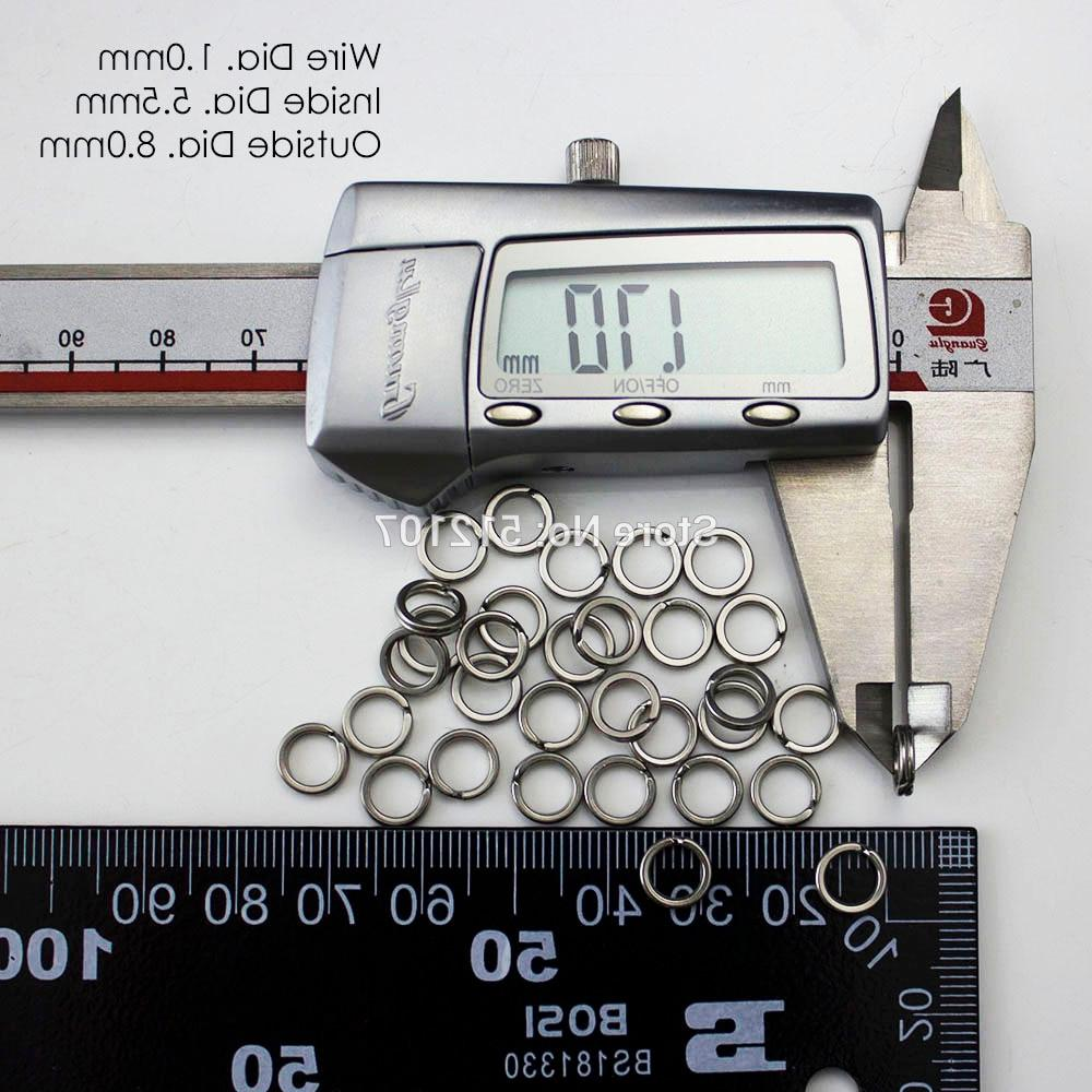 200pcs 3.5, 4.5, 7,7.5 <font><b>Heavy</b></font> Split Rings Terminal Fishing