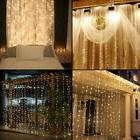 2M 3M LED Indoor Outdoor Curtain Fairy Light String Christ X