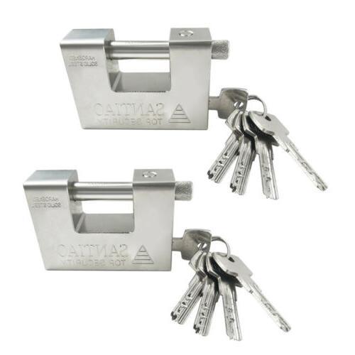 2pcs heavy duty security padlock chain lock