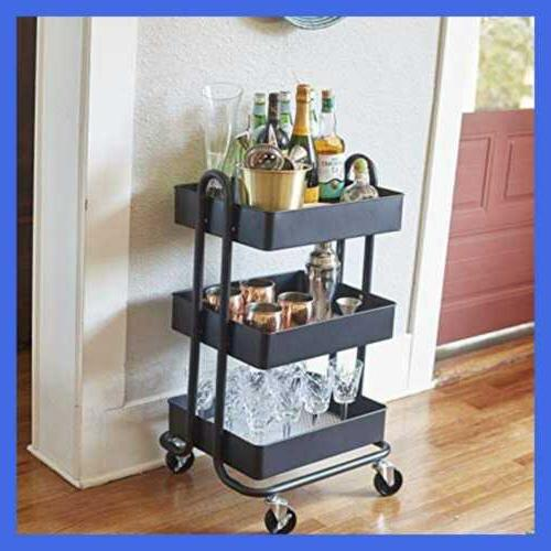 3 Tier Utility Cart Heavy Mobile Casters