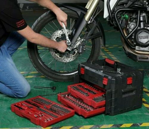 320-Piece Mechanics Repair Tool Set with Heavy Duty Storage Organizer