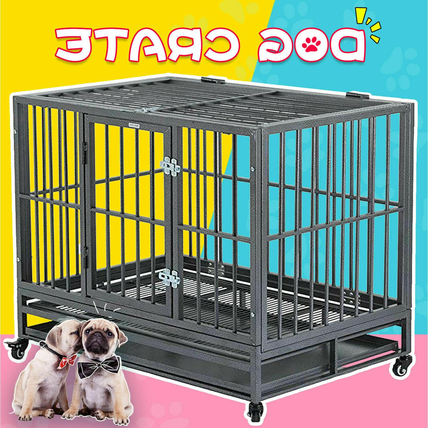 36 large heavy duty metal dog crate