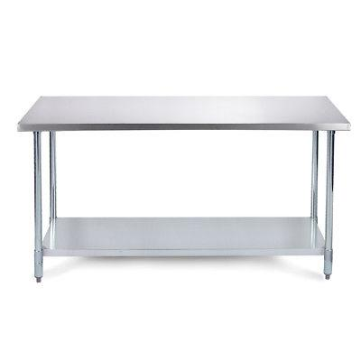 "36"" x 24"" Heavy Duty Industrial Prep Stainless Steel Table w"