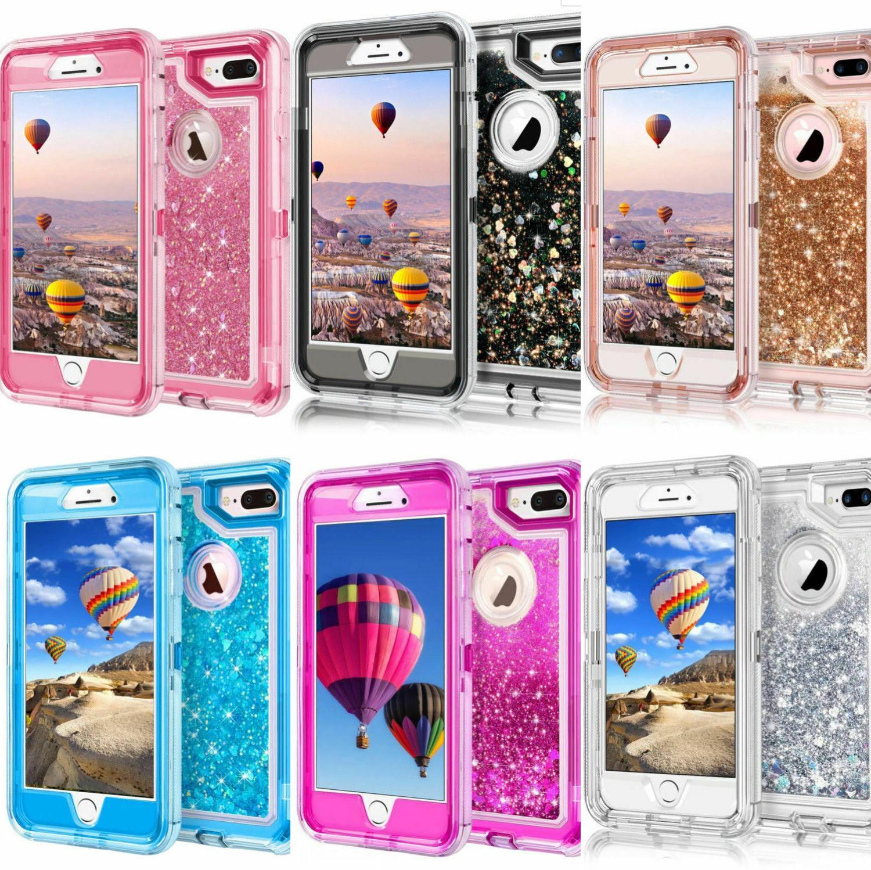 360° Liquid Glitter Bling Heavy Duty Case For iPhone Xs XR