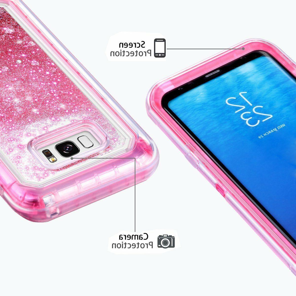 Liquid Glitter Case For Samsung S7 S9 Note8 Pro Plus Duty