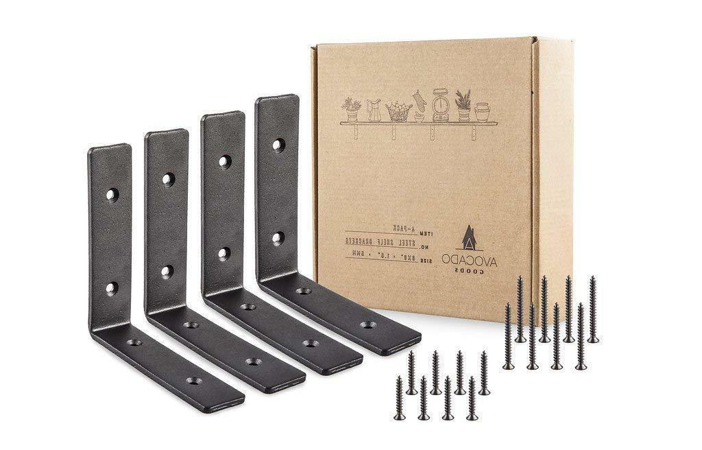 4 pack heavy duty metal wall brackets
