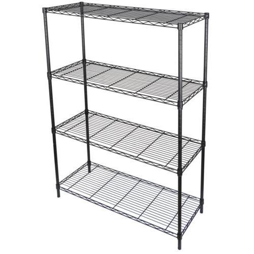 4 Shelf Heavy Duty Storage Shelving Steel Organizer Wire Rac