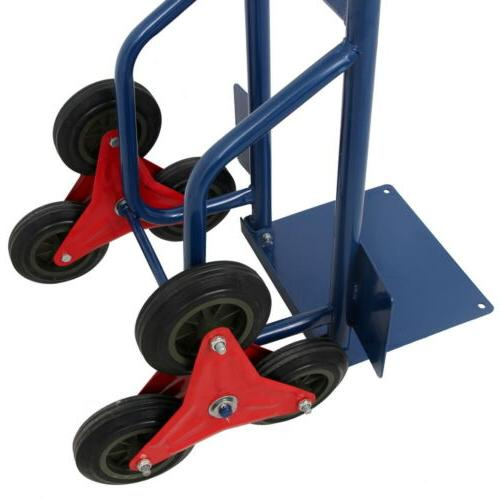 440lb Duty Climbing Climber Dolly Cart w/6 Wheels
