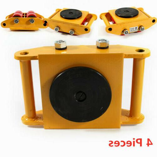 4Pcs Dolly Roller Mover Trolley Ton