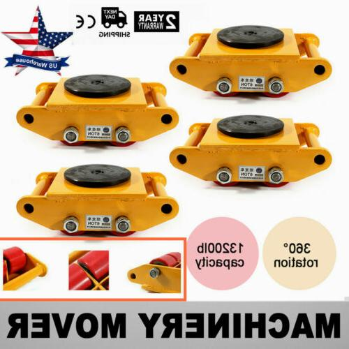 4pcs heavy duty machine dolly skate machinery