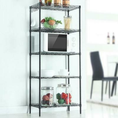 5 Tier Assembled Standing Steel Storage Rack Shelves Adjusta