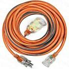 RIDGID 50 ft. 10/3 SJTW Heavy Duty Lighted Plug Extension Co
