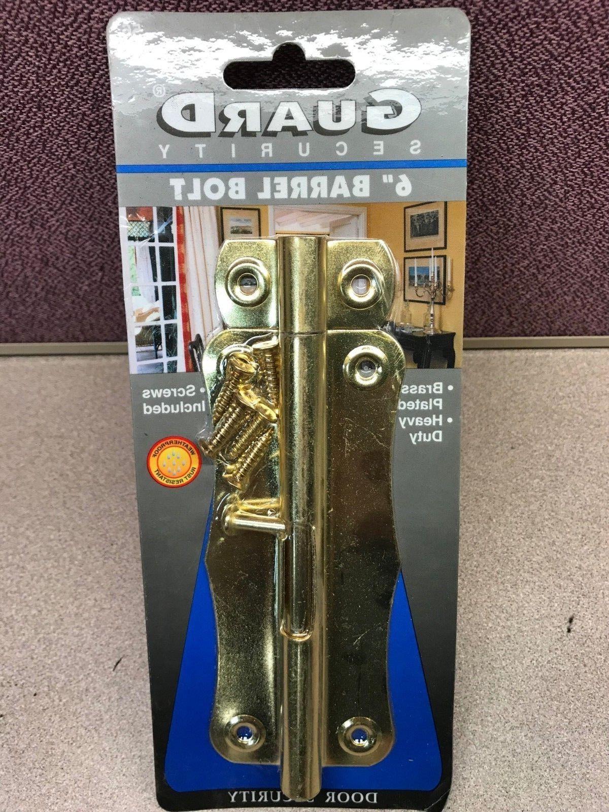 6 brass heavy duty barrel bolt door