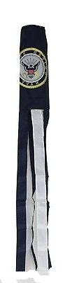 "60"" US Navy Emblem Embroidered Nylon Wind Sock Windsock Sewn"
