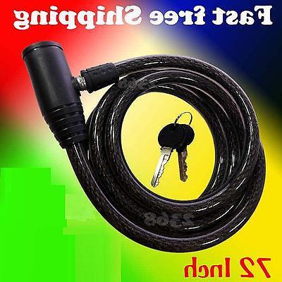72 heavy duty cable lock bike motorcycle