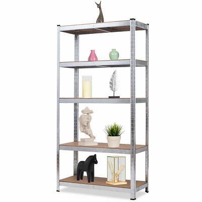 "72"" Heavy Duty Storage Shelf Garage Rack 5 Adjustable Shelves"