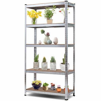 "72"" Heavy Shelf Metal Garage Rack 5 Level Shelves"