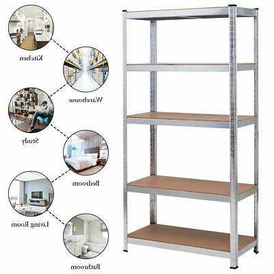 """72"""" Duty Shelf Rack 5 Shelves"""