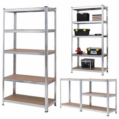 "72"" Shelf Steel Metal Rack 5 Shelves"