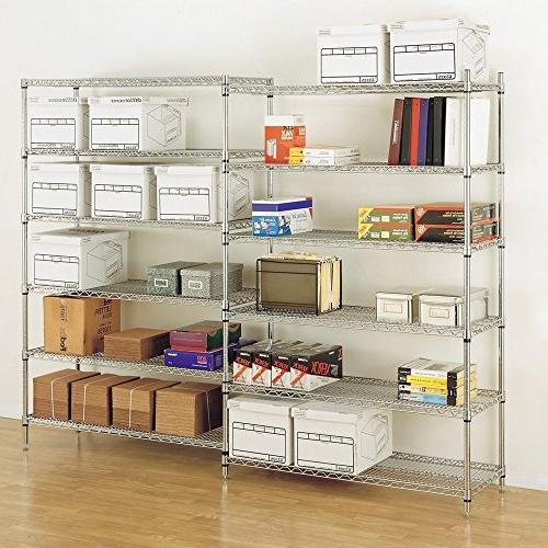 """76"""" 48"""" 18"""" Commercial Duty Rack Shelf Wire 3600 LBS Capacity"""