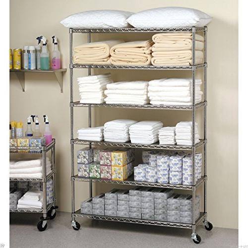 "76"" x 18"" Chrome Duty Layer/Tire Rack Wire Shelving"
