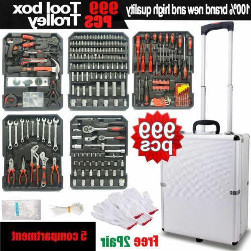 999PCS Tool Set Standard Metric Mechanics Kit Case Box Organ