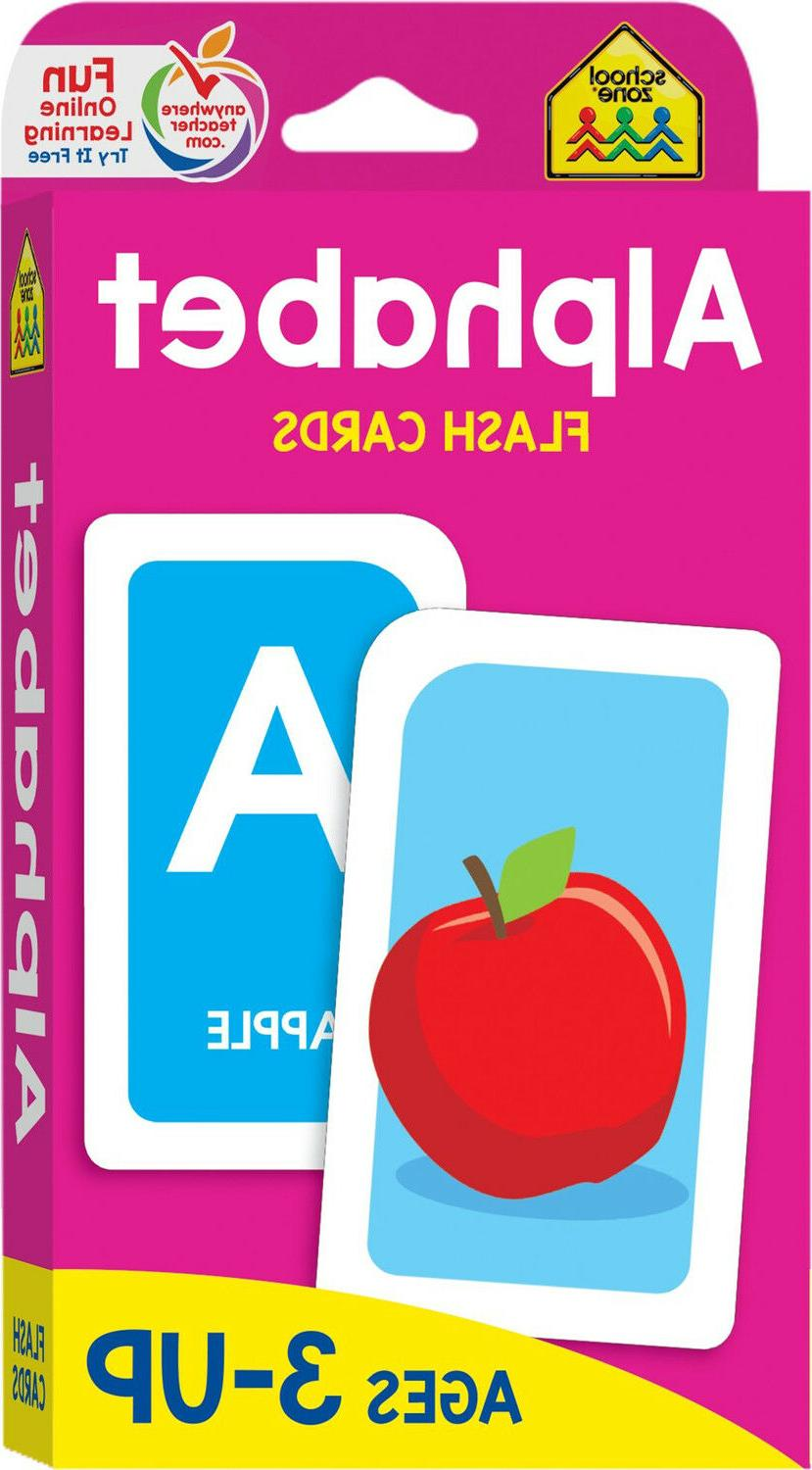 Alphabet Flash Cards Educational Materials Learning ABC Pres