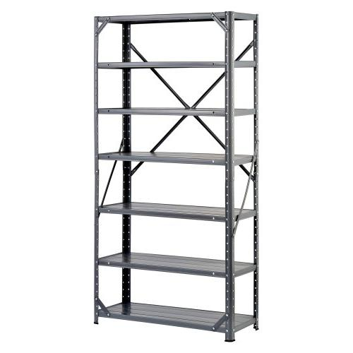 Edsal HC30127 Steel 7-Shelf Shelving Unit, 750 lb Capacity,
