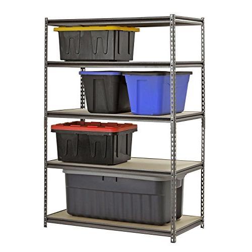 "Heavy Steel Storage Level Adjustable Shelves 72"" H x 48"" W Deep"