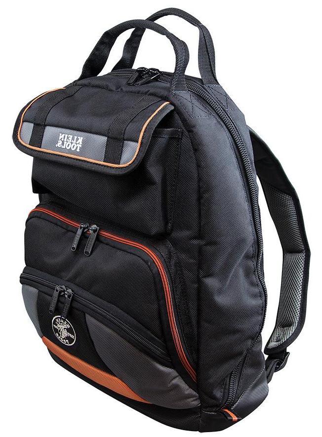 "Klein Tools 17.5"" Tradesman Pro Tool Bag Gear Zippered Backp"